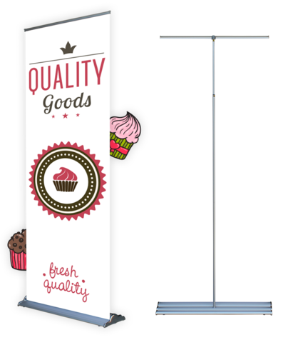 Steppy Roll-Up Banner Stand