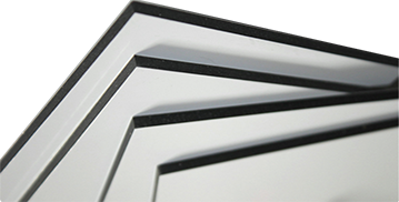 unprinted sheets of composite aluminum