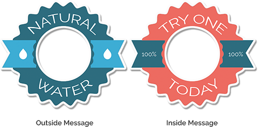 Symmetrical double sided sticker example