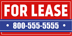 For Lease Banners