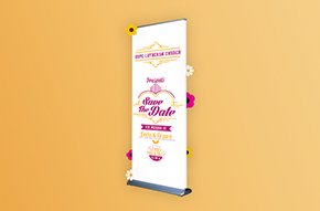 doublestep banner stand