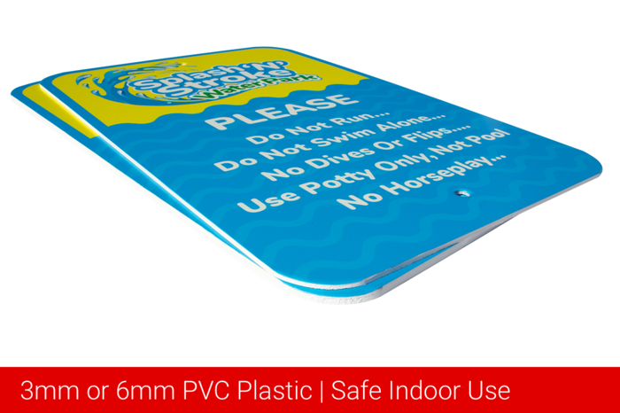 3mm or 6mm PVC Plastic safe indoor use