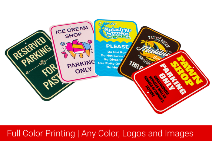 Full Color Printing Any Color, logos and images