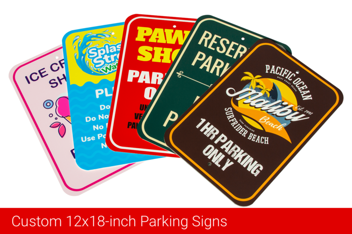 Custom 12x18-inch Parking Signs
