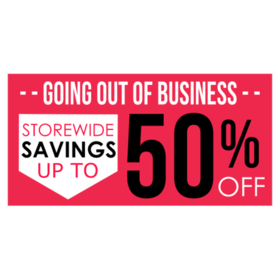 Bring the community to you with a Going Out of Business Sales Banner