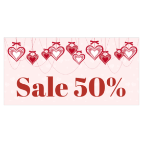 red heart hanging lights - Valentine Sale