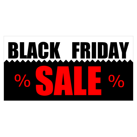 Use A Personalized Black Friday Banner To Put Your Sales On Display Printastic Com