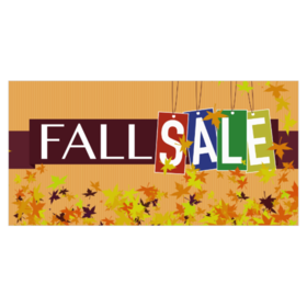 Fall Seasonal Sale Banners From $9.00