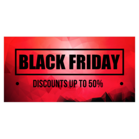Use A Personalized Black Friday Banner To Put Your Sales On Display