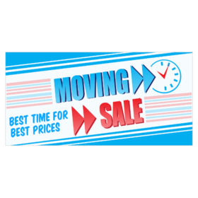 moving sale banners from 9 00