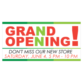 don't miss our new store grand opening vinyl banner