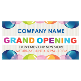 basic don't miss our new store grand opening vinyl banner