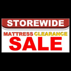 storewide mattress clearance sale vinyl banner