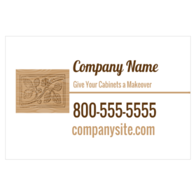 Magnetic truck signs for custom cabinet builders magnetic sign for custom cabinets with vine drawing on wood graphic reheart Image collections