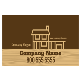 Custom magnetic signs for deck builders printastic magnetic sign for deck contractor with home on wood grain footer graphic reheart Image collections