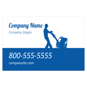 Custom magnetic signs for flooring contractors flooring magnetic sign with floor buffer silhouette reheart Image collections