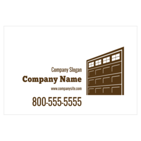 Custom magnetic signs for garage contractors magnetic sign for garage door with brown garage door graphic reheart Image collections