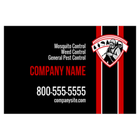 Custom magnetic truck signs for pest control contractors pest control magnetic sign with services list and racing stripe graphic reheart Image collections