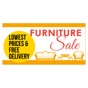 furniture sale banner. Vinyl Banner For Low Price And Free Delivery Furniture Sale With Seating Graphic E