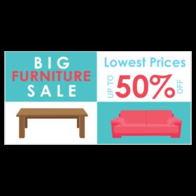 furniture sale banner. Basic Vinyl Furniture Sale Up To 50% Off Banner .