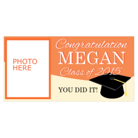 congratulations graduate with photo space vinyl banner