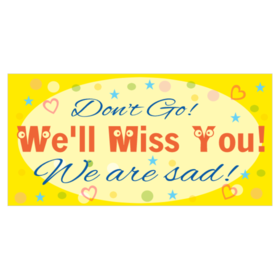 Custom farewell going away banners printastic for Farewell banner template