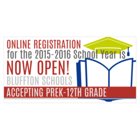 online registration for k-12 school district vinyl banner