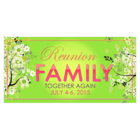 reunion banners design templates - family reunion banners