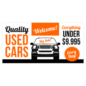 Car Sale Signs Used Car Dealer Vinyl Banners