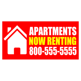 fill vacant units with a customized apartment for rent sign. Black Bedroom Furniture Sets. Home Design Ideas