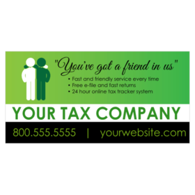 Tax service signs for custom tax banners friendly tax professionals banner reheart Image collections
