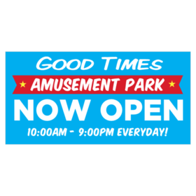 Banners and Signs for Amusement Parks