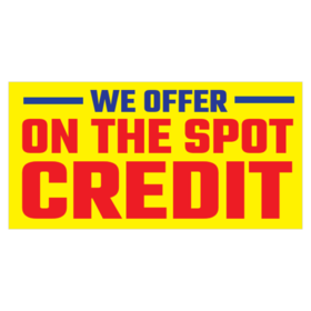 Credit on the Spot Banners