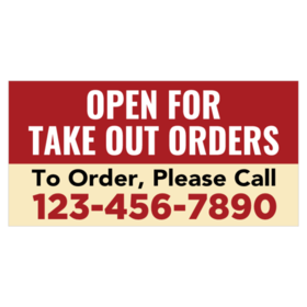 Take Out Banner Signs