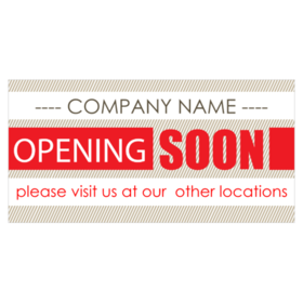 Coming Soon banner signs for business