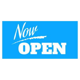 Now Open vinyl business signs