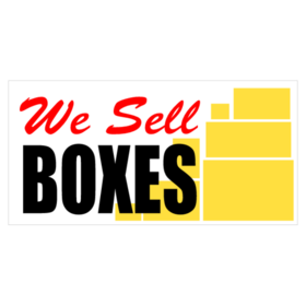 We Sell Boxes banner design