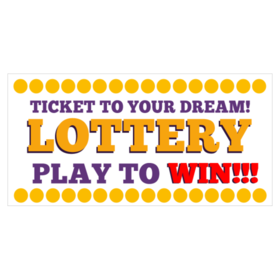 We Sell Lottery business banners